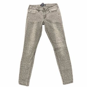 Ecko Unlimited Grey Leopard stretchy skinny jeans